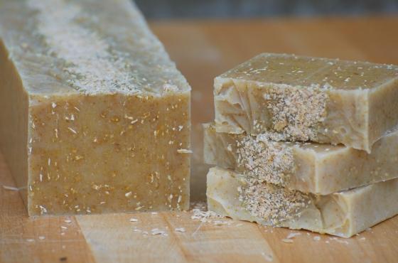 lemon oatmeal soap